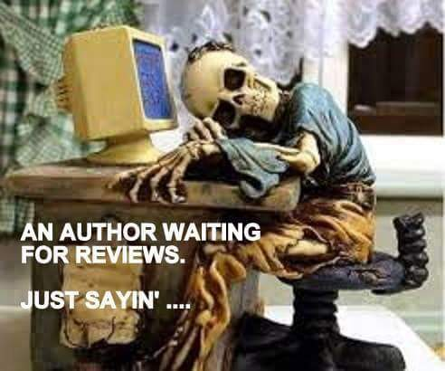 skeleton writer waiting for reviews